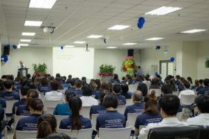 Tổng Giám đốc Bệnh viện – Ông Nguyễn Văn Trương phát biểu trong lễ tổng kết