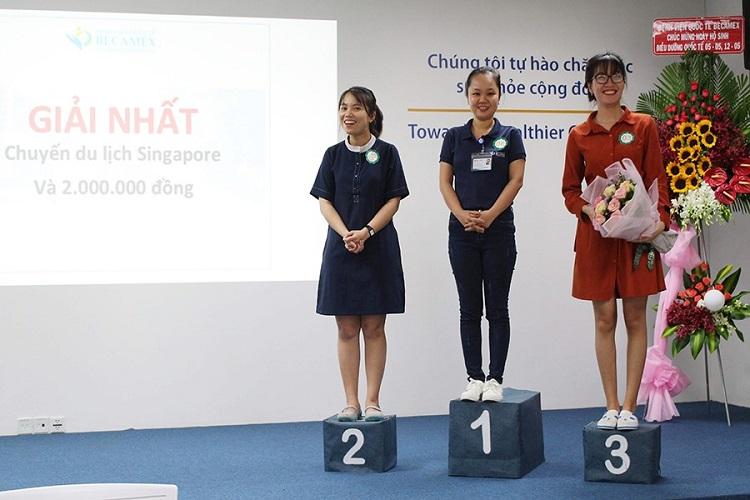 Hình 7. Top 3 thí sinh đạt giải cao nhất