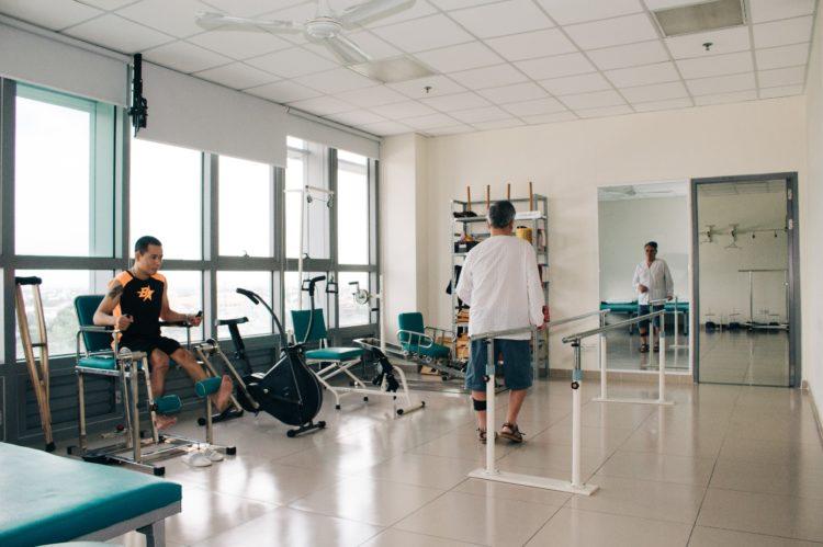 Phòng tập phục hồi chức năng tại Bệnh viện Quốc tế Becamex
