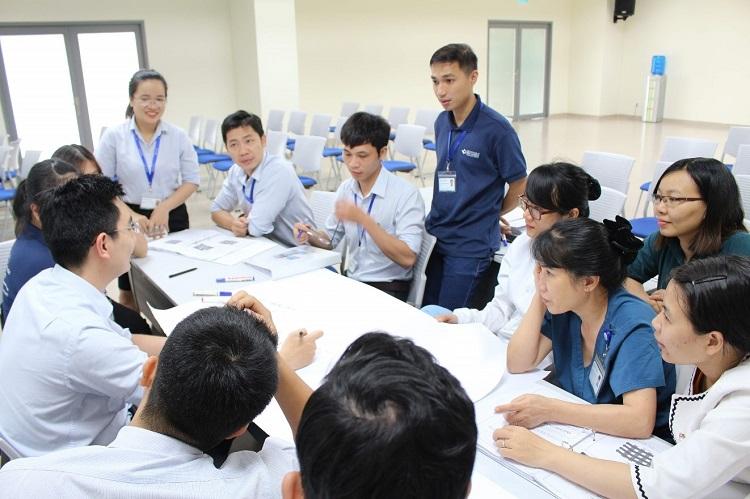 Hình 2. Các nhóm thảo luận vấn đề cải tiến